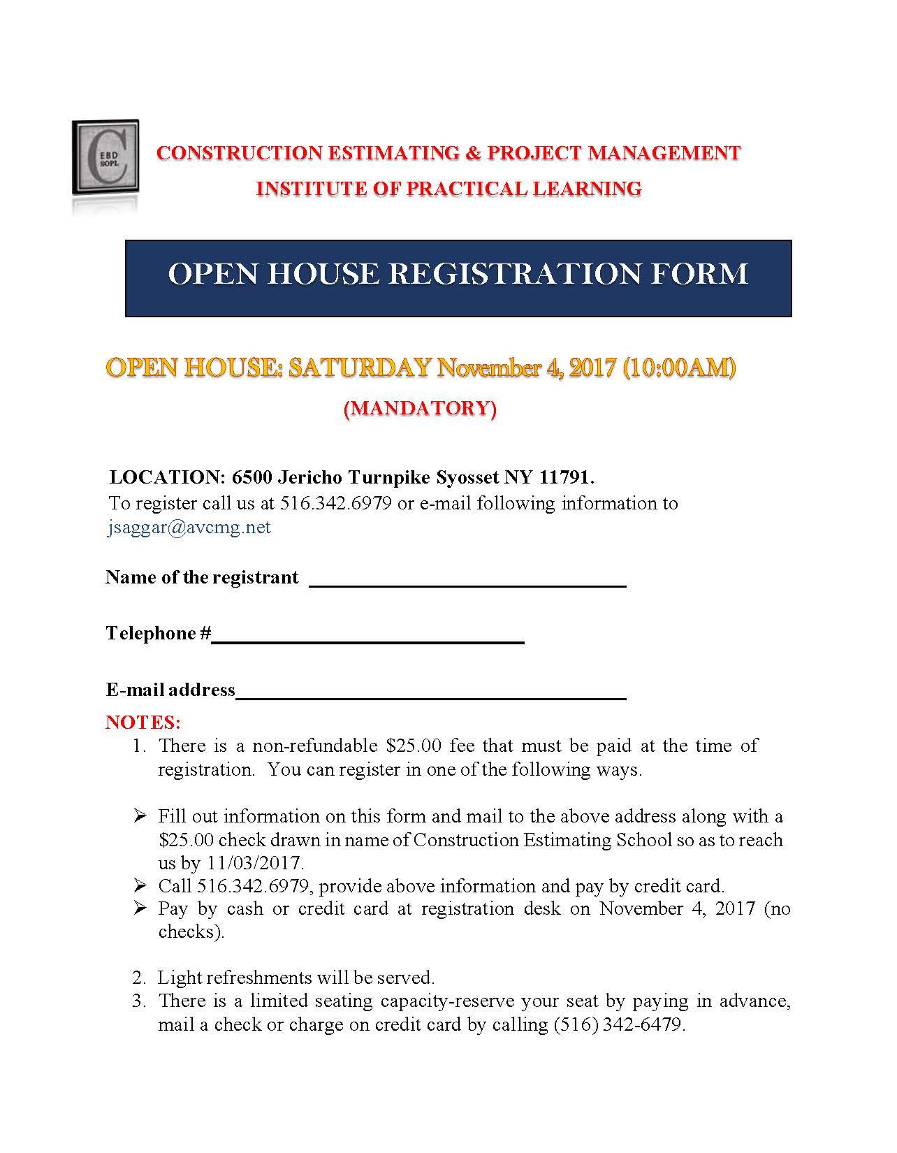 CEBD School of Practical Learning - Open House Registration